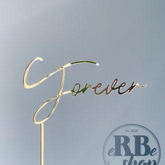 """""""Forever"""" Cake topper"""