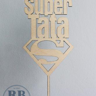 """Cake topper """"Super Tata"""""""